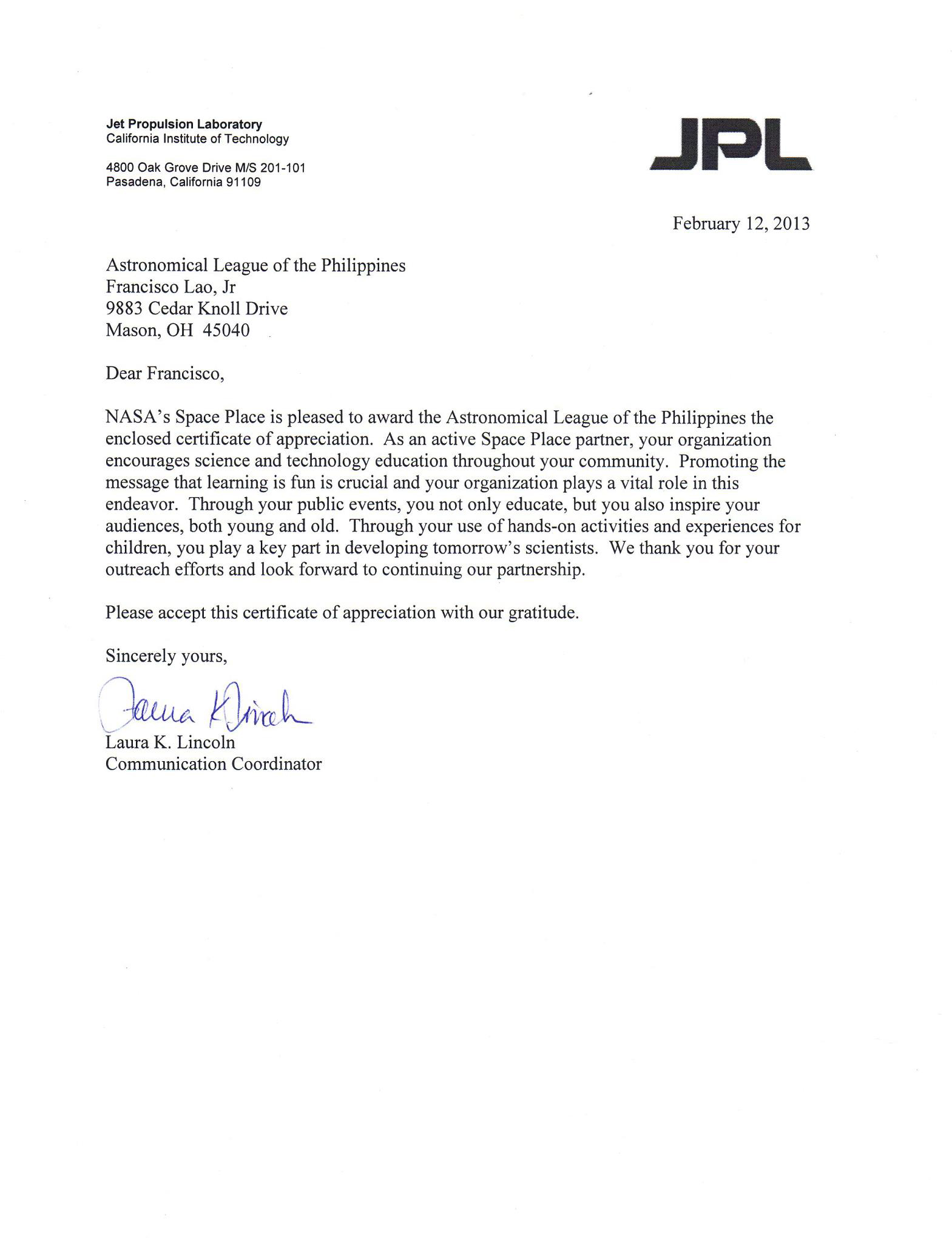 Employment Certification Letter Request Personal Reference