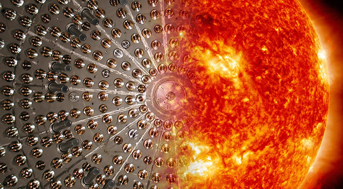 Logran detectar por primera vez neutrinos generados por la fusión de protones en el Sol