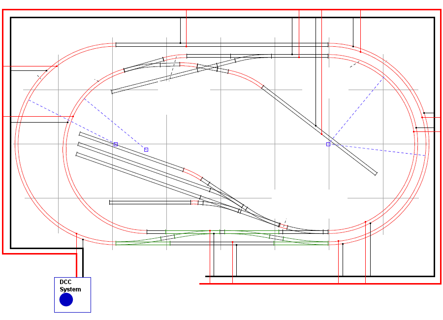 dcc track wiring bus