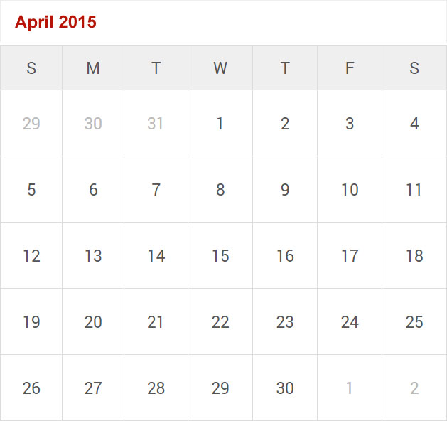 Free Download Printable Calendar for 2015 - Calendar 2015 for Print