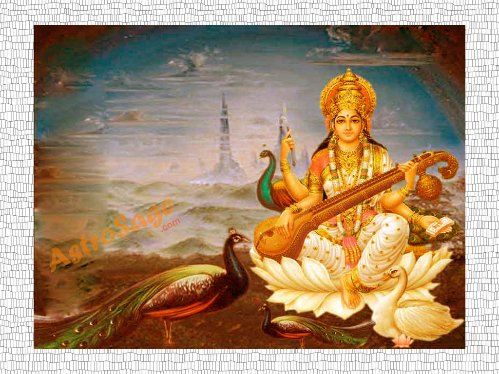 Maa Saraswati 3d Wallpaper 2013 Saraswati Wallpapers Wallpaper Of Saraswati