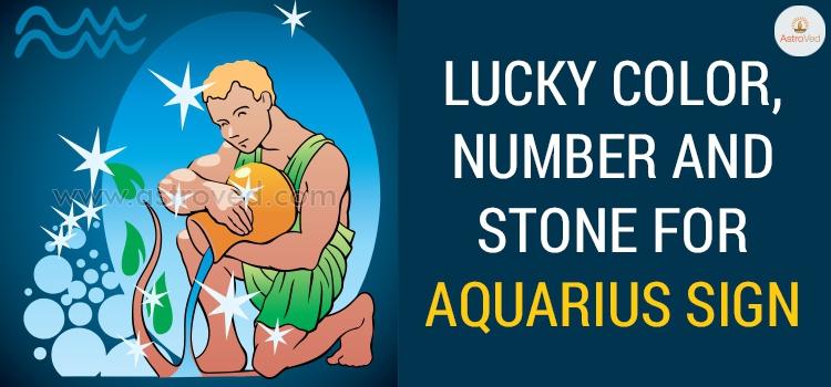Aquarius Lucky Color, Aquarius Lucky Number ,Aquarius Lucky Stone - 2019