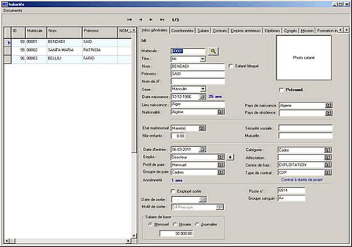 logiciel de gestion de base de donnees pour cv