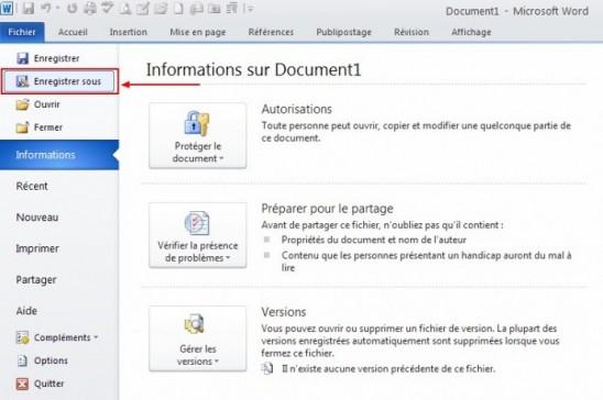 comment enregistrer un cv en format pdf