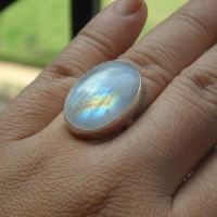 Buy Natural Moonstone Ring - Oval MoonStone ring, Handmade ...
