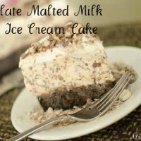 Chocolate Malted Milk Ball Ice Cream Cake