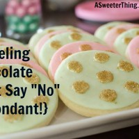 "Modeling Chocolate {Just Say ""No"" to Fondant}"