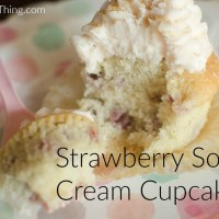 Strawberry Sour Cream Cupcakes