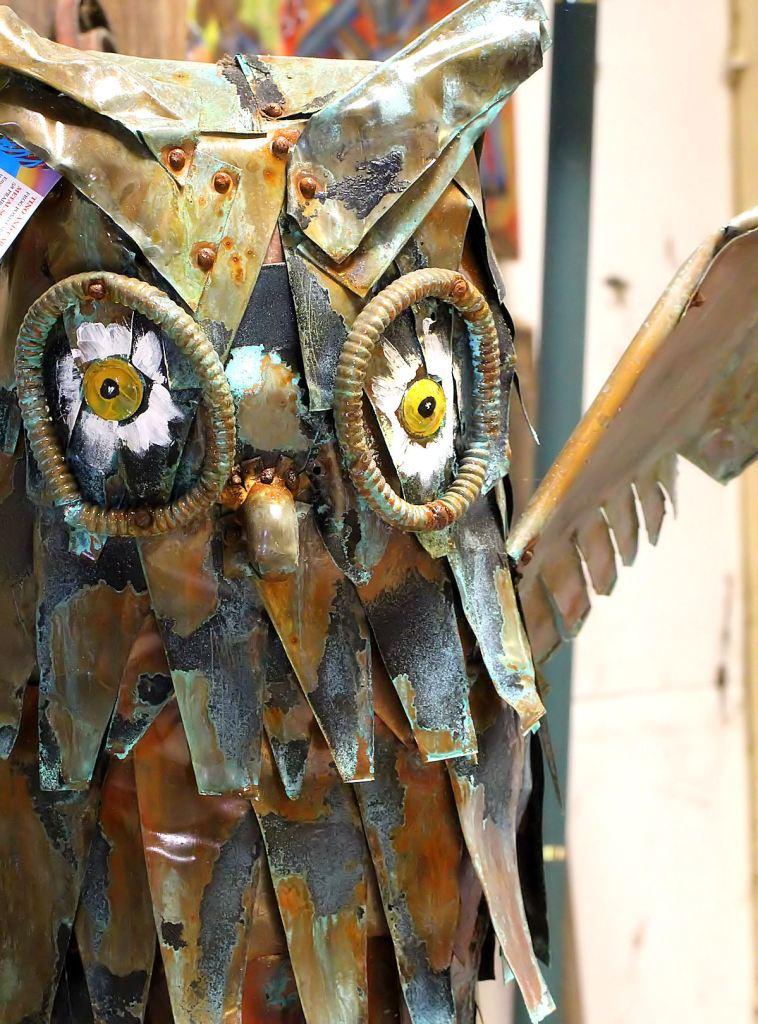 Frog Pond Studio Farm Owl Sculpture1