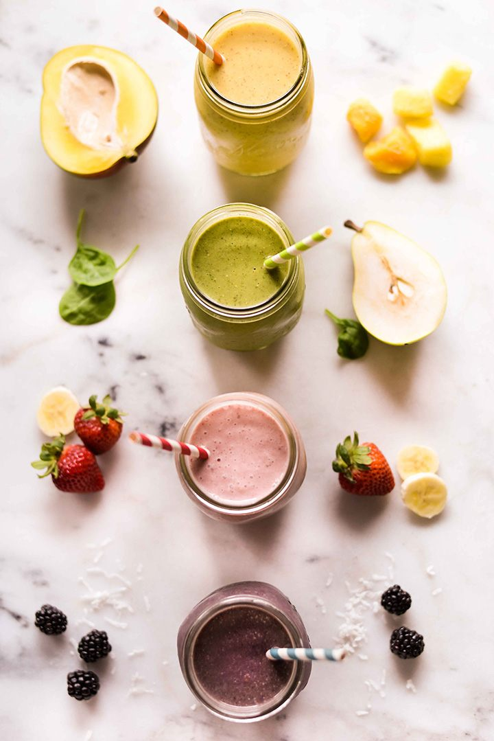 4 High Protein Fruit Smoothie Recipes You Need To Try \u2022 A Sweet Pea Chef