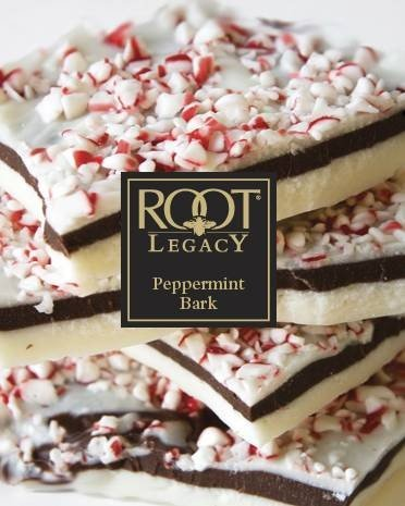 Peppermint bark candle