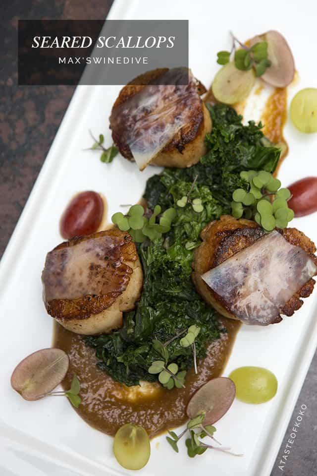 Seared scallops, Max's Wine Dive