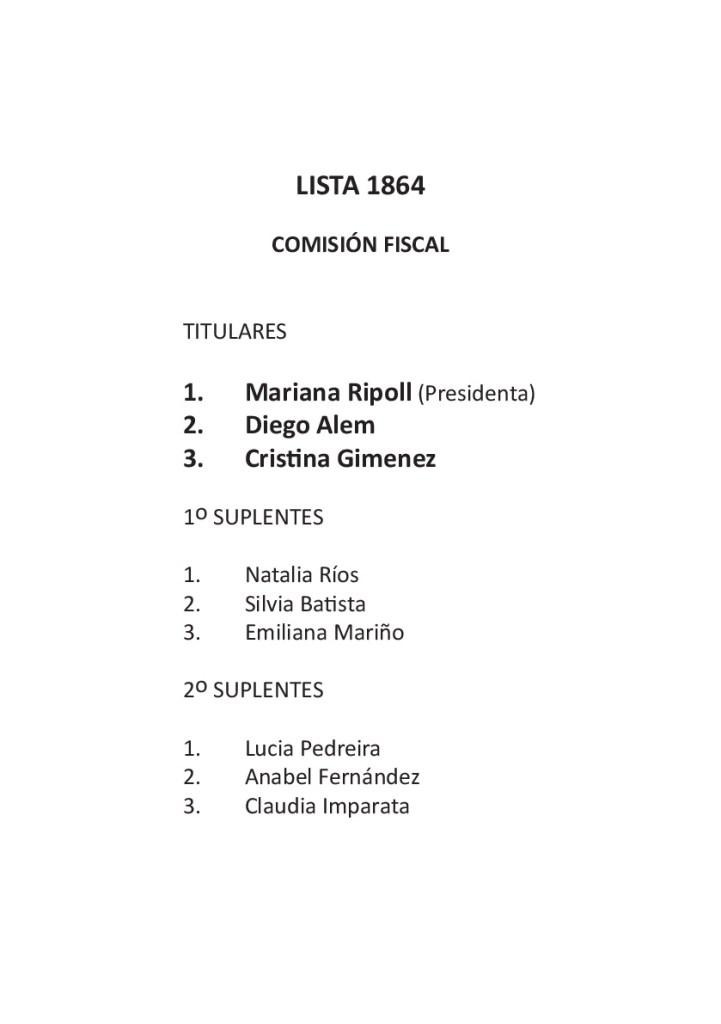 Lista - Comisión Fiscal