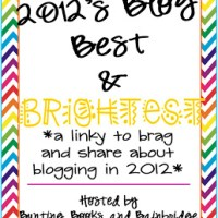 2012 Bloggy Best and Brightest Linky
