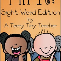 Pin It - Sight Word Edition (and a freebie)