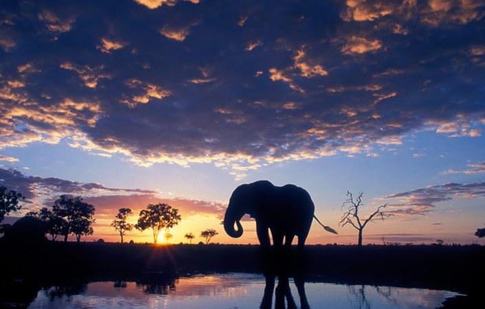 Botswana! Breath-taking sunsets are guaranteed on your Botswana Luxury Safari