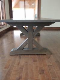 kitchen table base X - Atelier Meuble Rustique