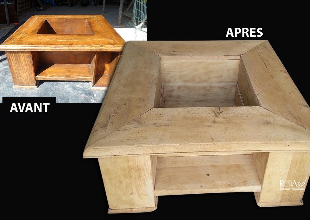 Decapage bois par aerogommage - Decapage meuble par aerogommage ...