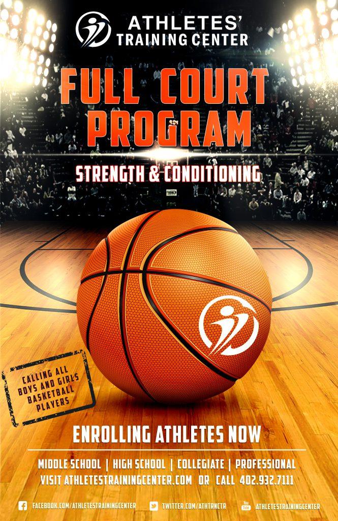 Full Court Program Athletesu0027 Training Center - basketball flyer example