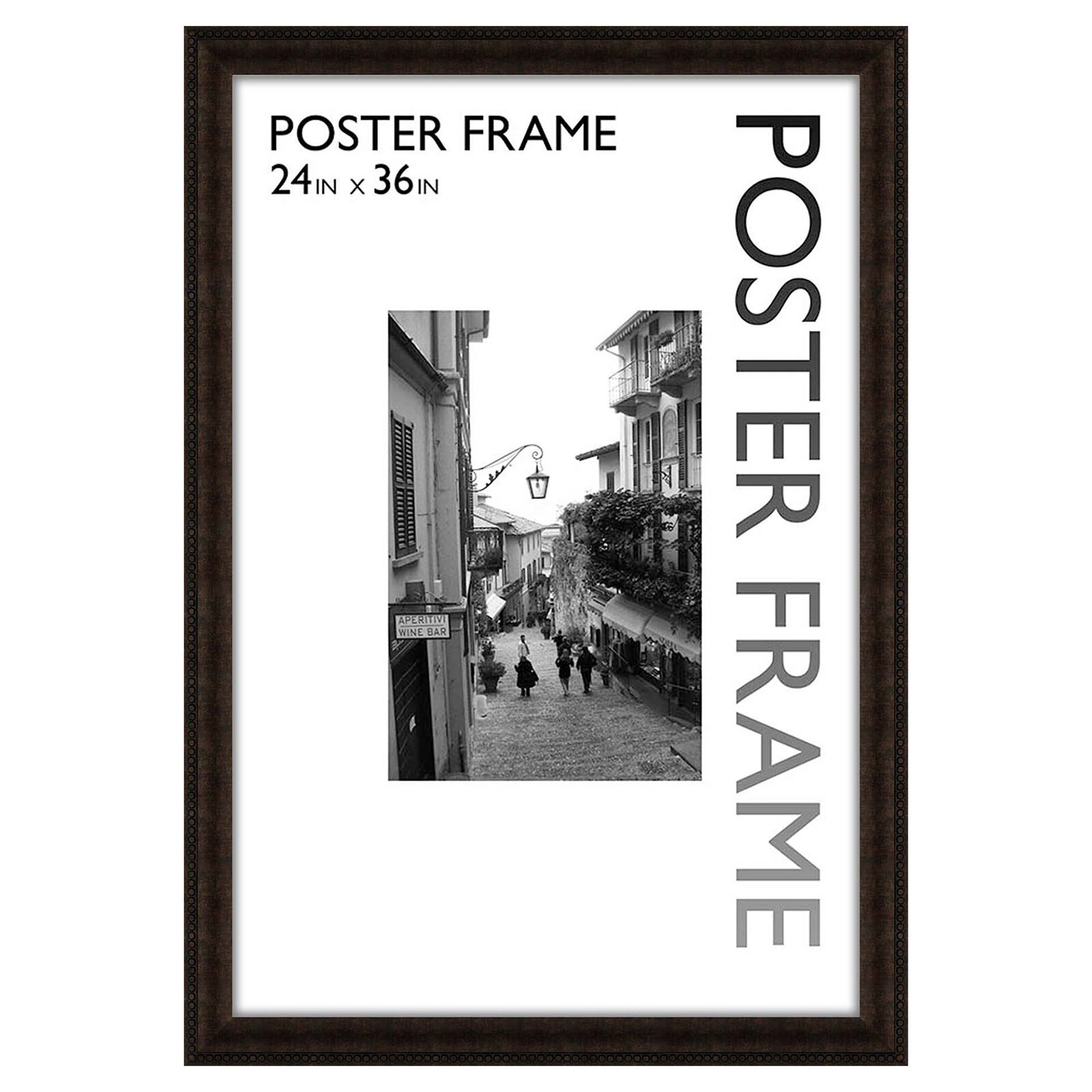 Breathtaking X Beaded Bronze Poster Frame X Beaded Bronze Poster Frame At Home 24x36 Frame Walmart 24 X 36 Frameless Wall Mirror photos 24 X 36 Frame