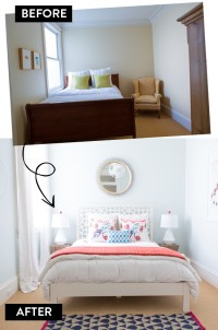 Modern Eclectic Bedroom: Before and After