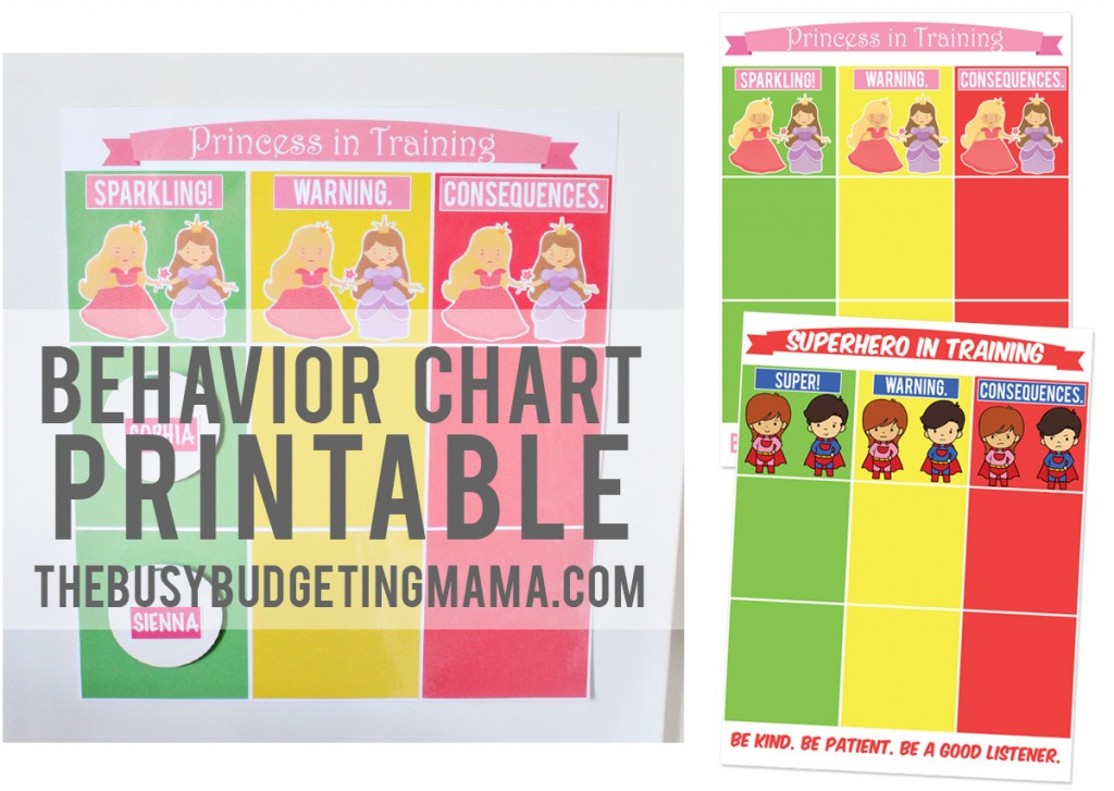behavior chart Archives - At Home With Natalie