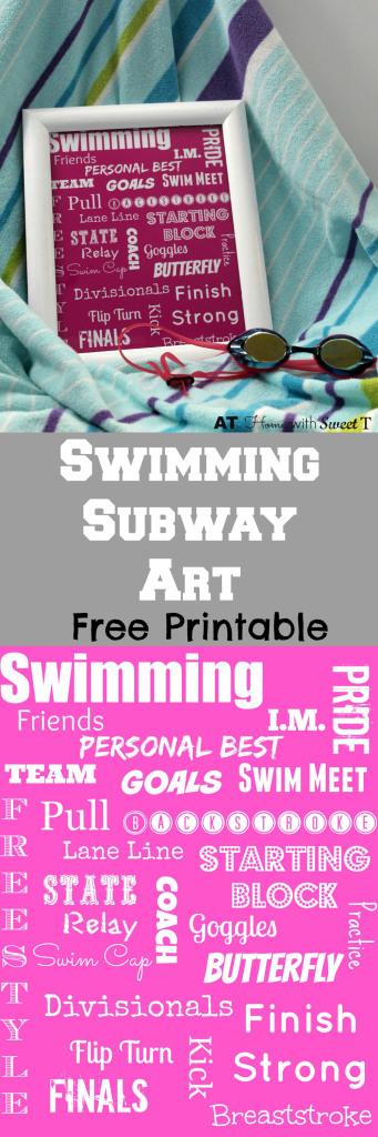 Swimming Subway Art Free Printable \u2013 At Home with Sweet T