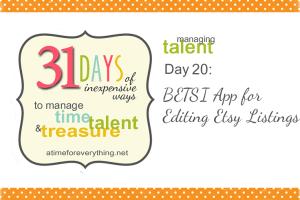 31 Days 20