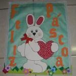 mural de pascoa tecido
