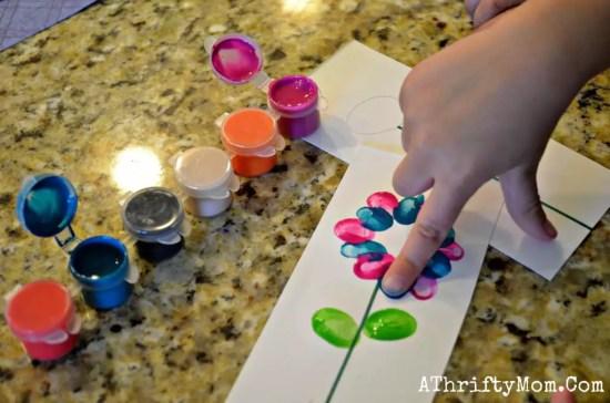 flores pintadas com dedo Presentes e Lembrancinhas para o Dia das Mães datas comemorativas | Atividades para Educacao Infantil