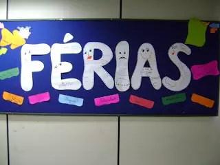 mural ferias mensagens   Lindos Modelos de Murais de Férias Escolares   datas comemorativas  | Atividades para Educacao Infantil