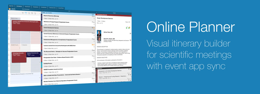 Online Itinerary Planner - EventPilot Conference Apps by ATIV Software