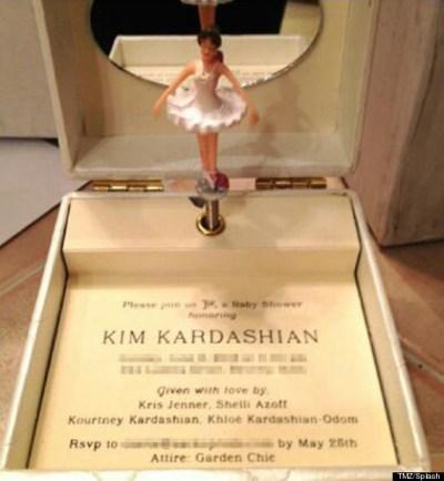 Kim Kardashian Baby Shower Invitation