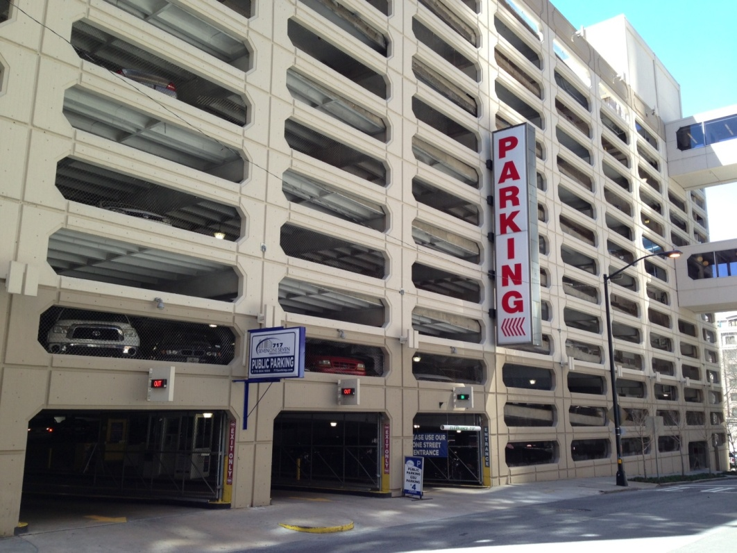 150 Carnegie Way Parking Garage Downtown Atlanta Ga