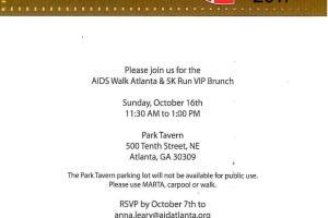 Come Support A Good Cause! 2011 AIDS Walk Atlanta & 5K Run Will Take Place October 16