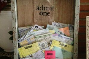 9 Ways to Turn Old Concert Ticket Stubs Into Something Awesome