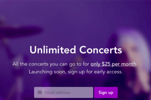 Unlimited Concerts For $25 Per Month?