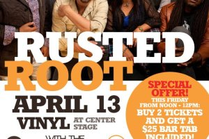 Vinyl Celebrates Talent Buyer, Brandon Mize's Birthday w/ Special Ticket Deal for Rusted Root!