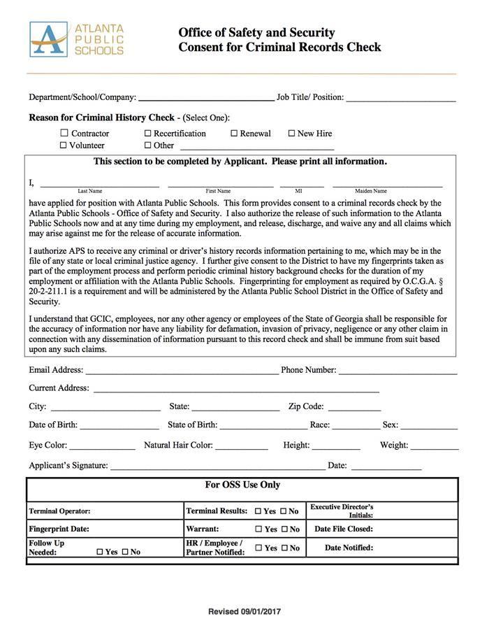 Volunteers / Volunteer Consent Form