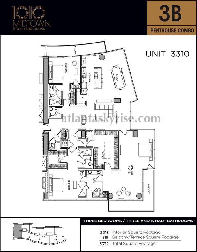 1010 midtown penthouse 3310 1 500 000
