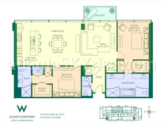 W Atlanta Residecnes 2304 Floor Plan