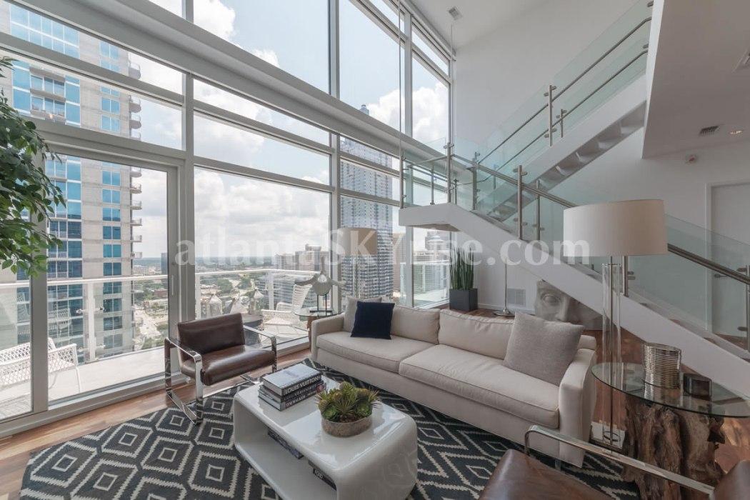 W Residences 45 Ivan Allen Penthouse 2706 Great Room 4
