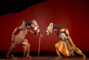 Patrick R. Brownas Scar  and  L. Steven Taylor as Mufasa. Photo by Joan Marcus ©Disney