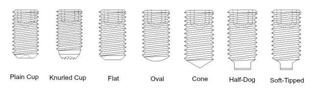 Set Screw Point Styles And Their Uses   Fasteners, Bolts, Screws