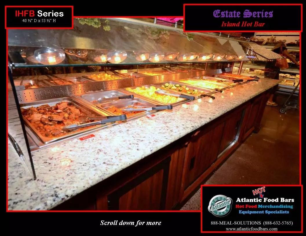 Atlantic food bars estate series island hot food bar for Hot food bar 3 divisions