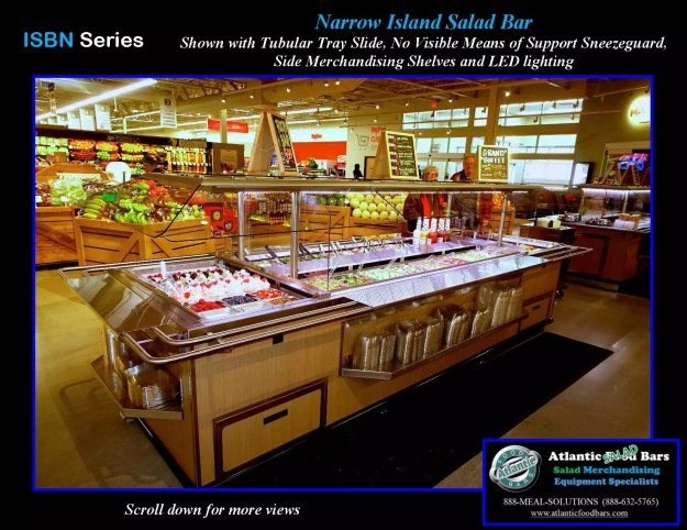 Atlantic food bars island salad bar w tubular tray for Food bar meaning