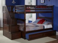 Columbia Staircase Trundle Bunk Bed - Atlantic Furniture