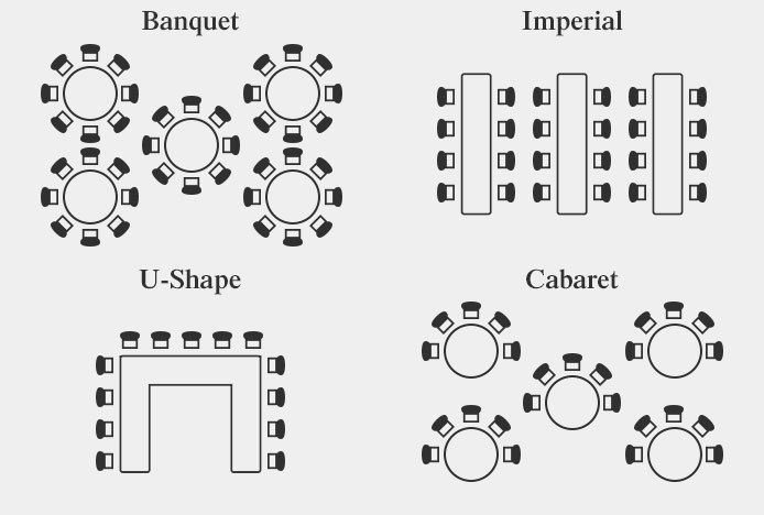 u shape table seating diagram