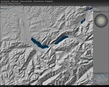 3D Map type: Shaded terrain model (orthogonal view)