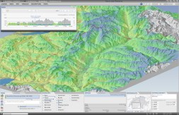 Terrain Profile: Combination of a thematic map and a profile